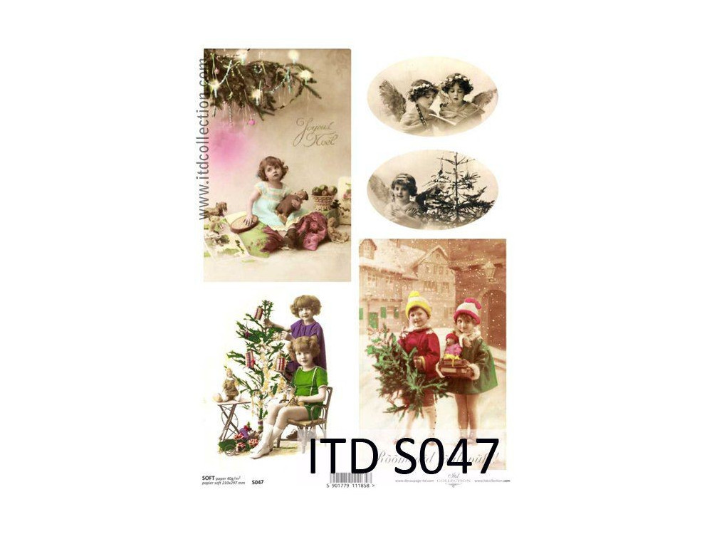 Papier do decoupage A4 - ITD - soft, S047