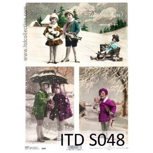 Papier decoupage soft ITD S048