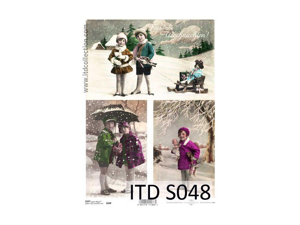 Decoupage Paper Soft ITD S048