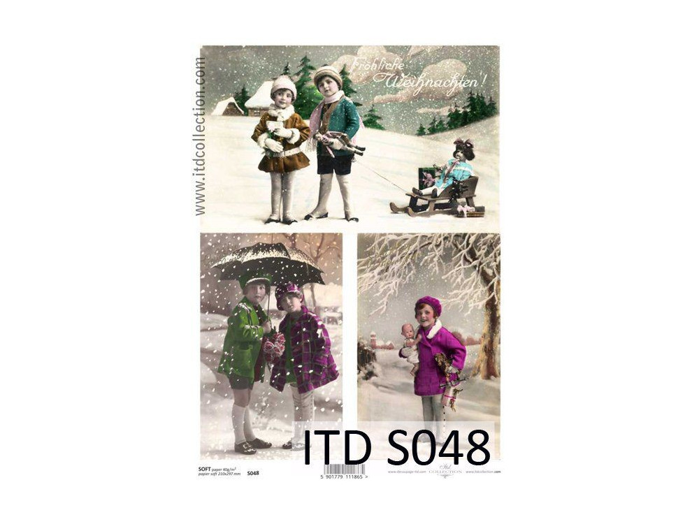 Papier do decoupage A4 - ITD - soft, S048