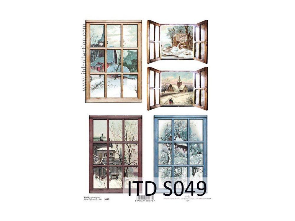 Papier do decoupage A4 - ITD - soft, S049