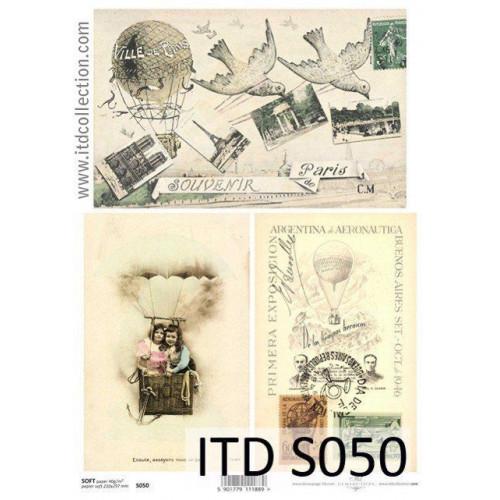 Papier decoupage soft ITD S050