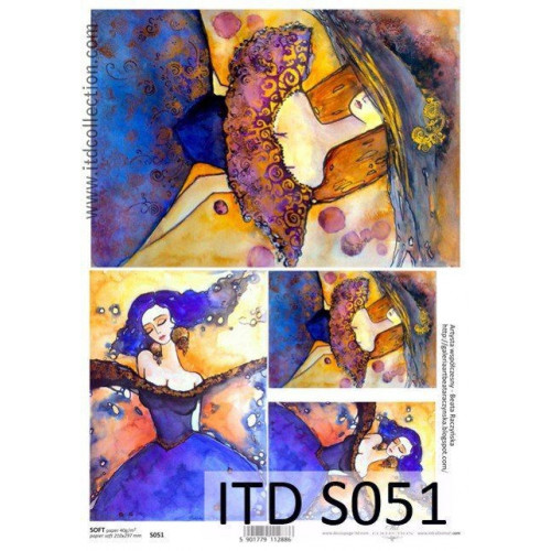 Papier decoupage soft ITD S051