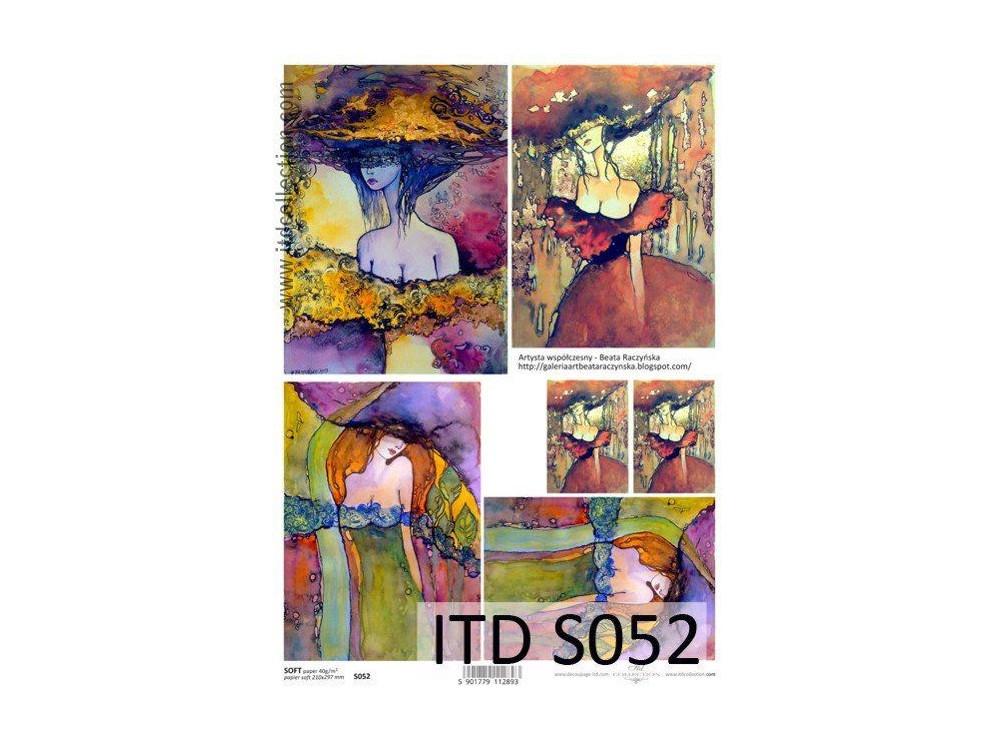 Papier decoupage soft ITD S052