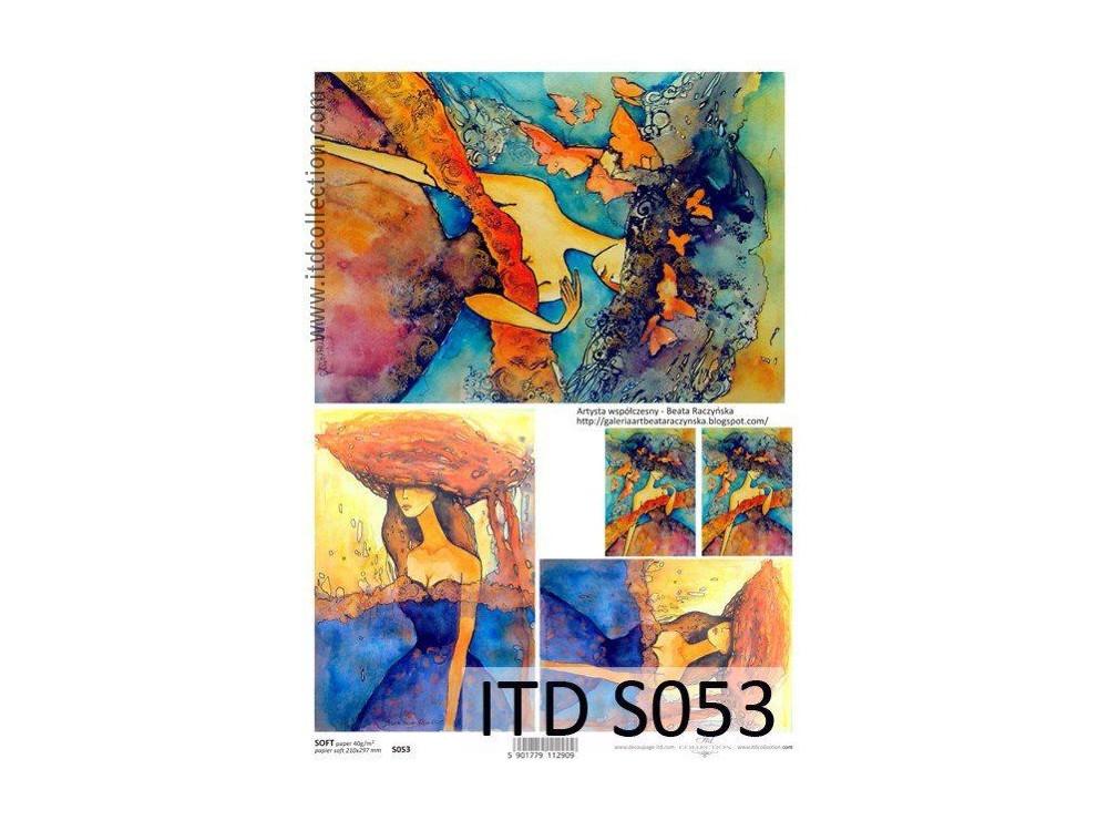 Papier decoupage soft ITD S053