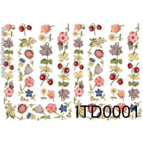 Papier decoupage ITD 0001
