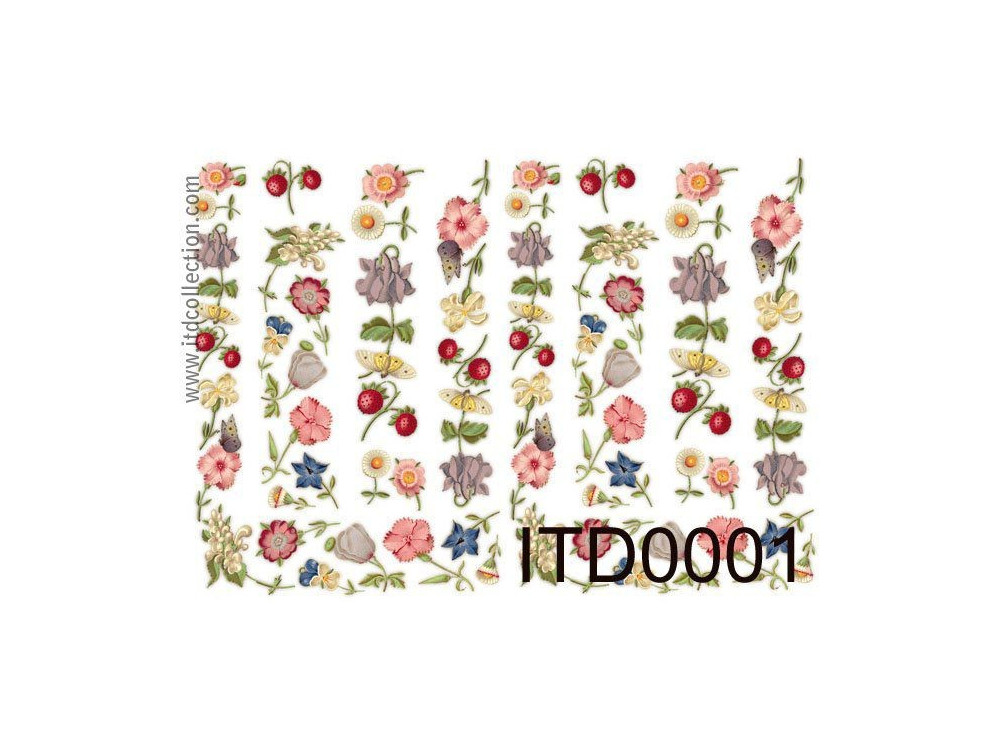 Papier do decoupage A4 - ITD Collection - klasyczny, 0001