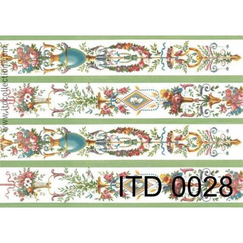 Papier decoupage ITD 0028