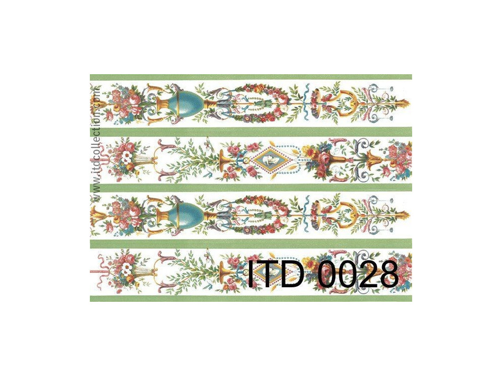 Papier do decoupage A4 - ITD Collection - klasyczny, 0028
