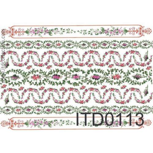 Papier decoupage ITD 0113