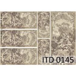 Papier do decoupage A4 - ITD Collection - klasyczny, 0145