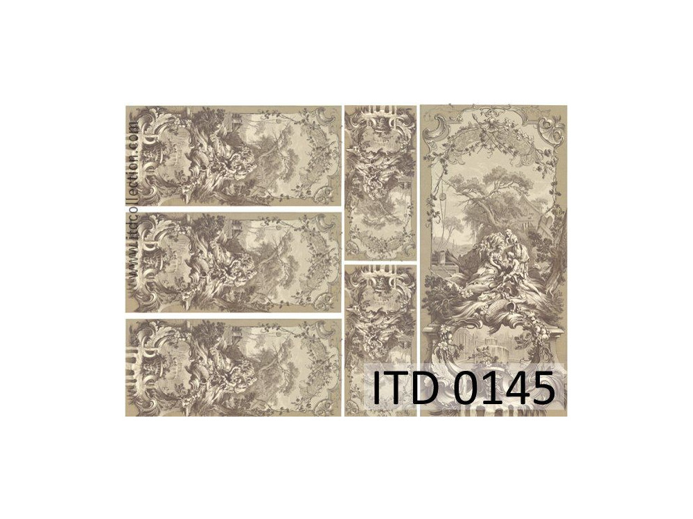 Papier do decoupage A4 - ITD Collection - klasyczny, 0145