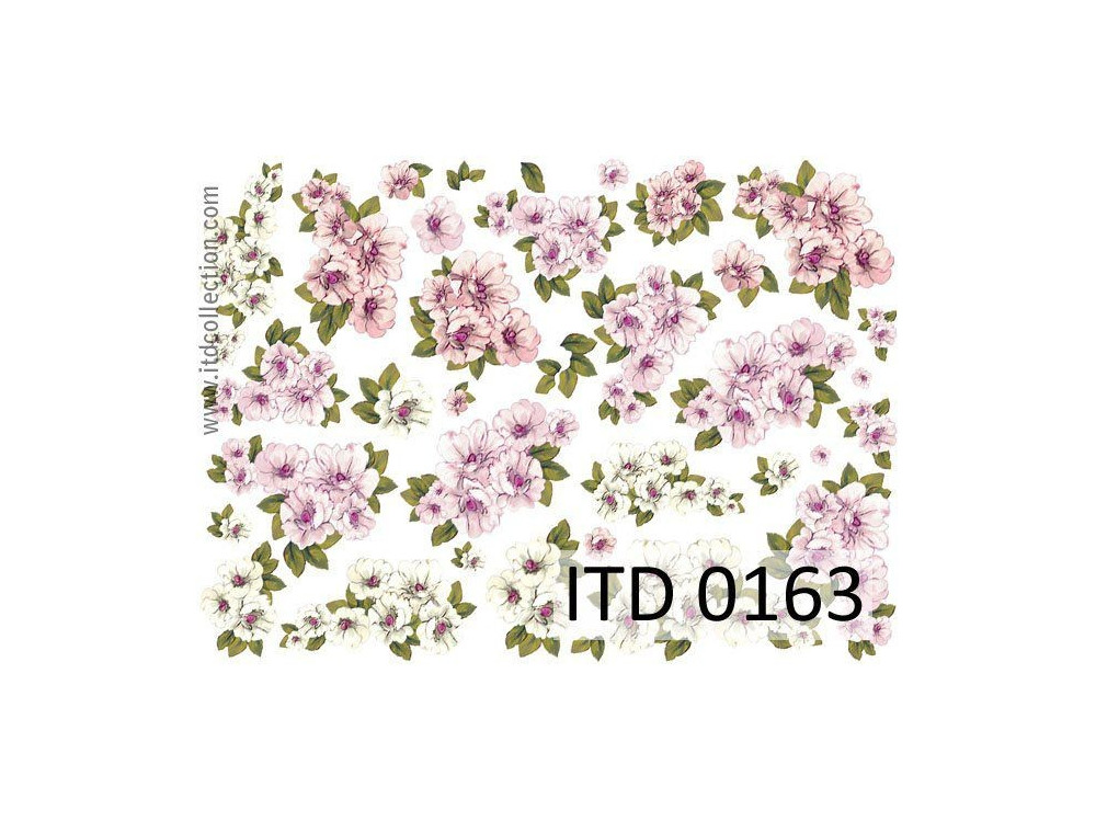 Papier do decoupage A4 -  ITD Collection - klasyczny, 0163