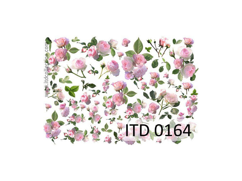 Papier do decoupage A4 - ITD Collection - klasyczny, 0164