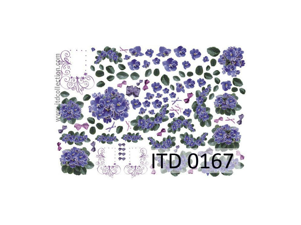 Papier do decoupage A4 - ITD Collection - klasyczny, 0167