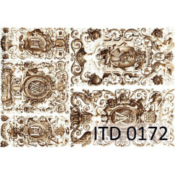 Decoupage paper A4 - ITD Collection - classic, 0172