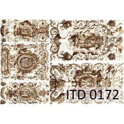 Papier do decoupage A4 - ITD Collection - klasyczny, 0172