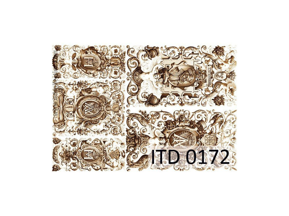 Papier do decoupage A4 - ITD Collection - klasyczny, 0172