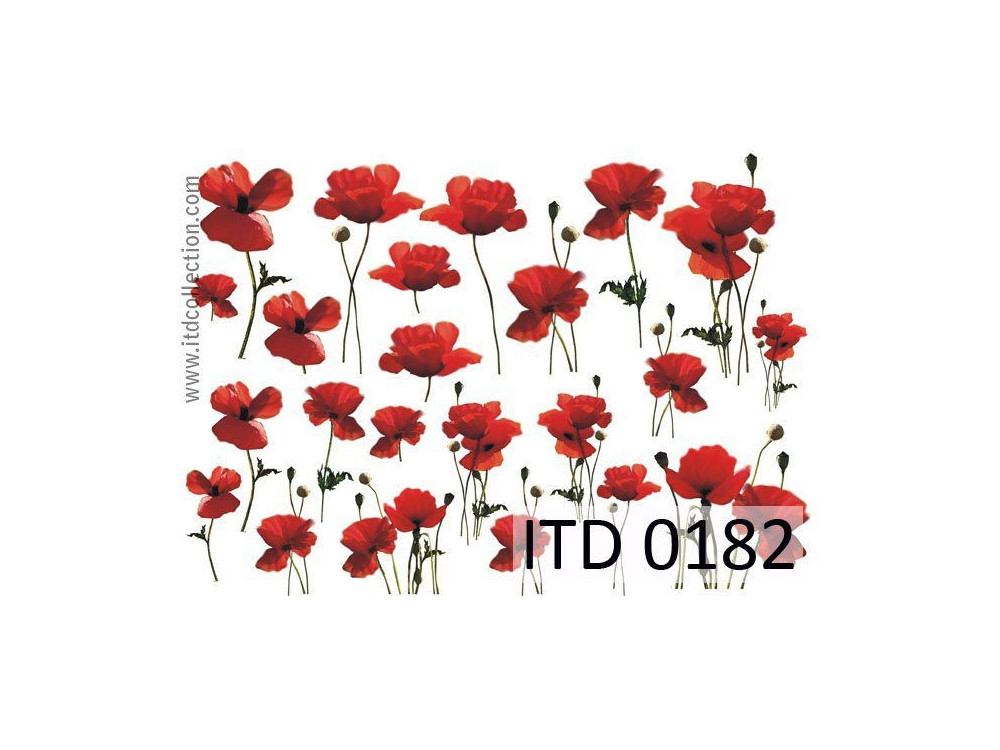 Papier do decoupage A4 - ITD Collection - klasyczny, 0182