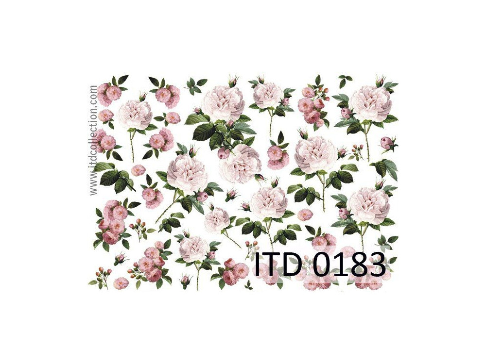 Papier do decoupage A4 - ITD Collection - klasyczny, 0183