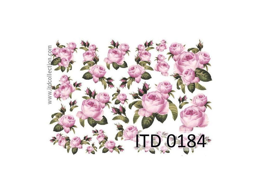 Papier do decoupage A4 - ITD Collection - klasyczny, 0184