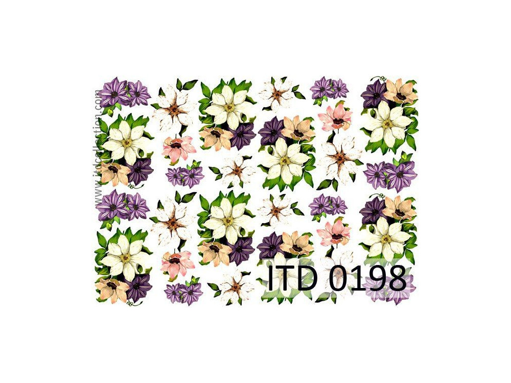 Papier do decoupage A4 - ITD Collection - klasyczny, 0198