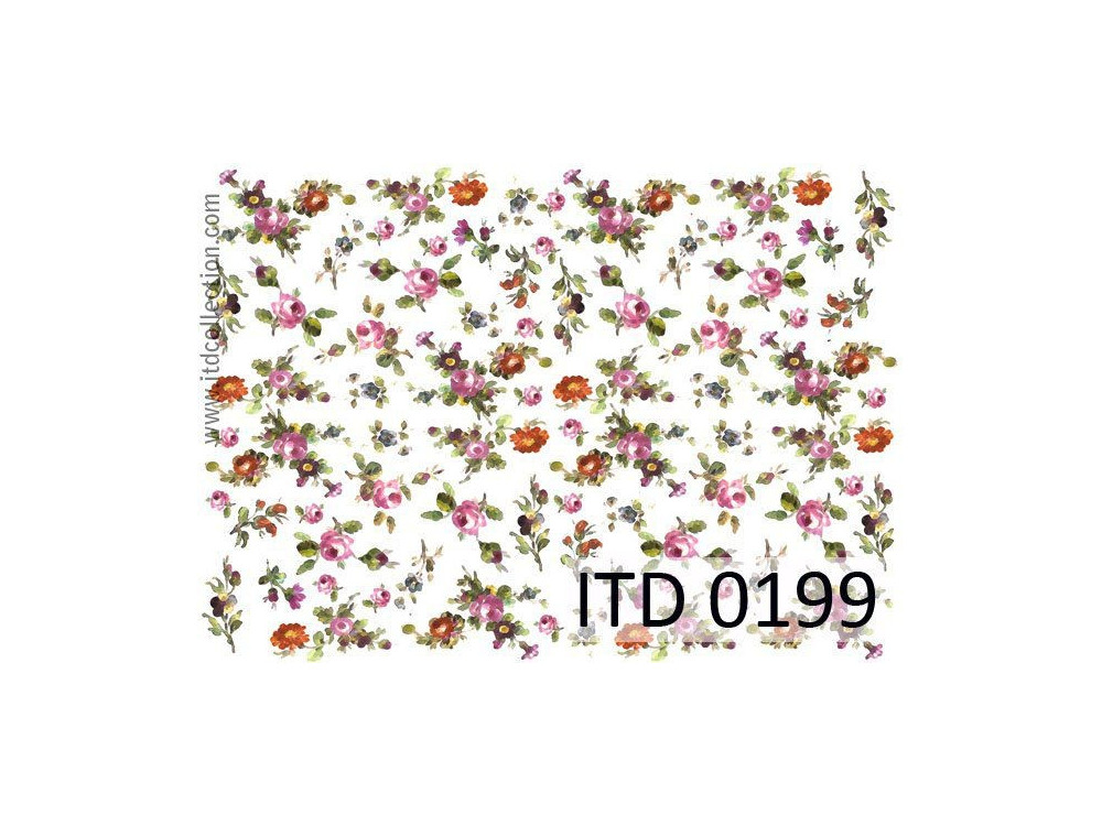 Papier do decoupage A4 - ITD Collection - klasyczny, 0199