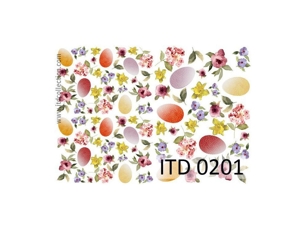 Papier do decoupage A4 - ITD Collection - klasyczny, 0201