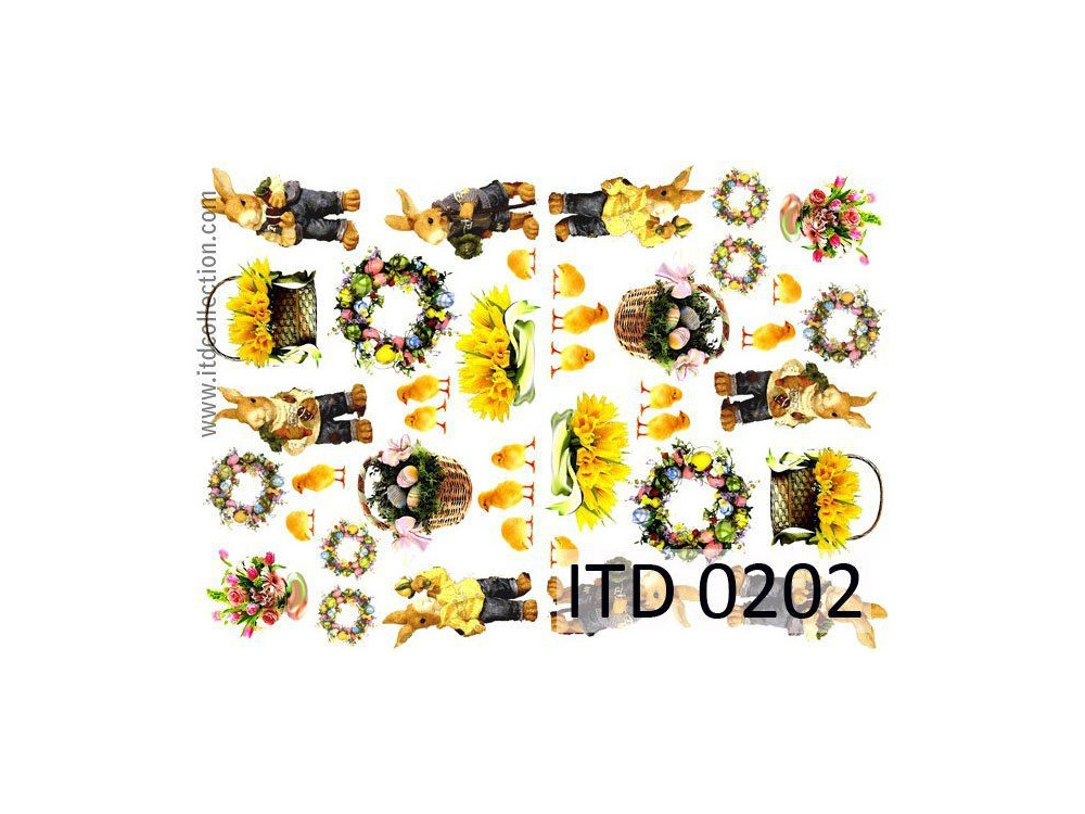 Papier decoupage ITD 0202