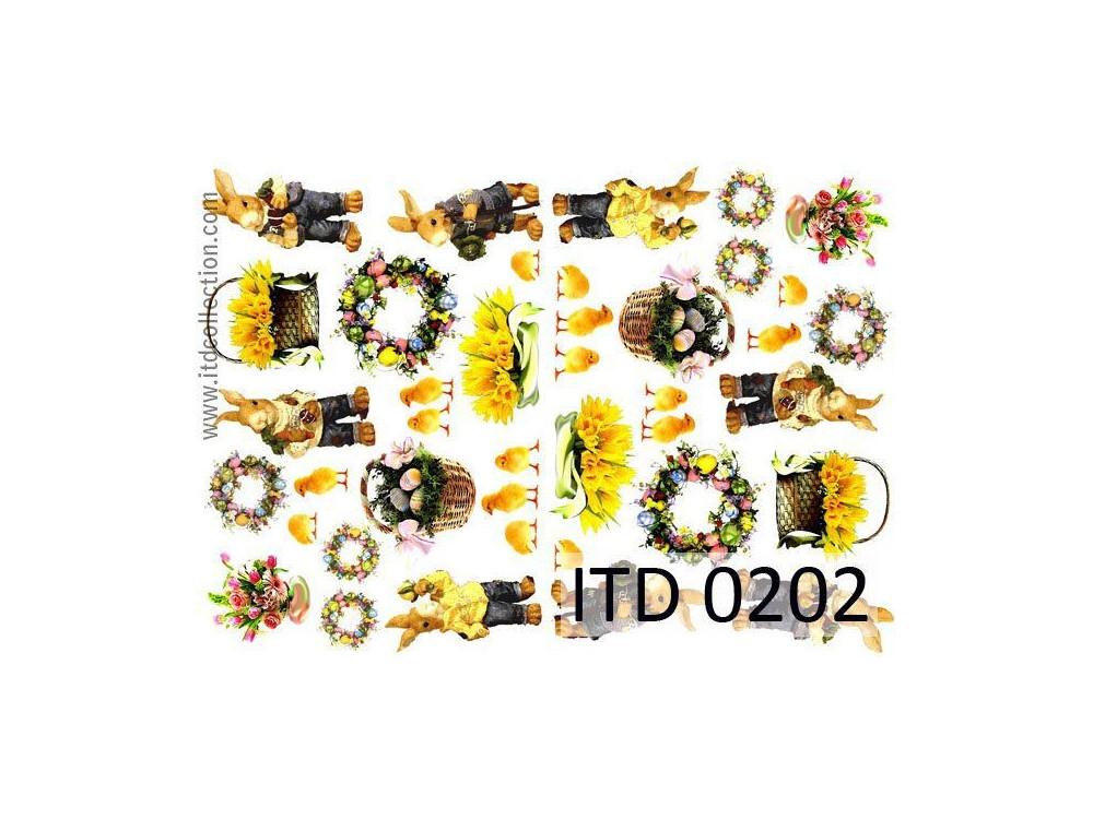 Papier do decoupage A4 - ITD Collection - klasyczny, 0202