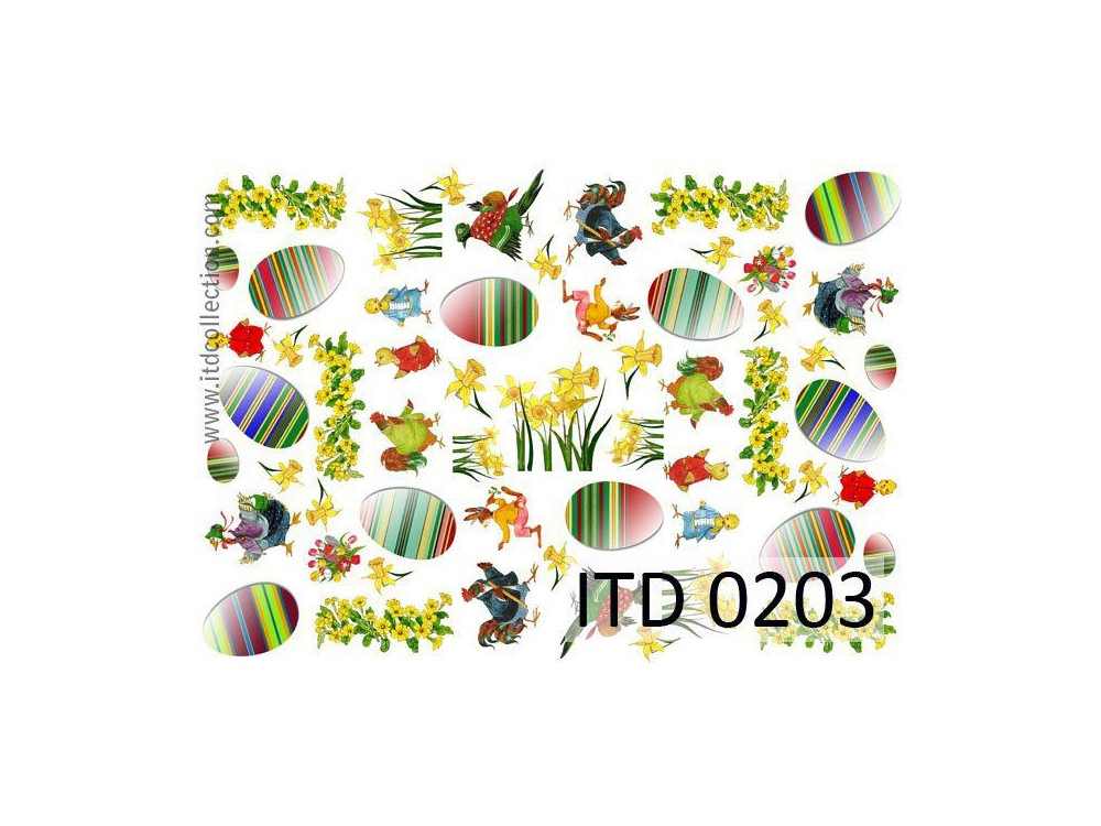 Decoupage paper A4 - ITD Collection - classic, 0203