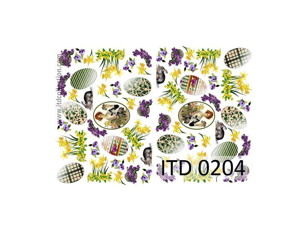 Papier do decoupage A4 - ITD Collection - klasyczny, 0204