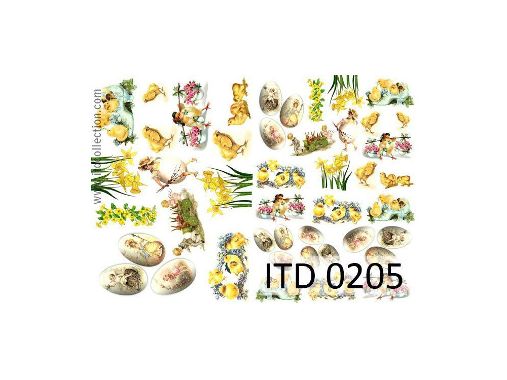 Papier do decoupage A4 - ITD Collection - klasyczny, 0205