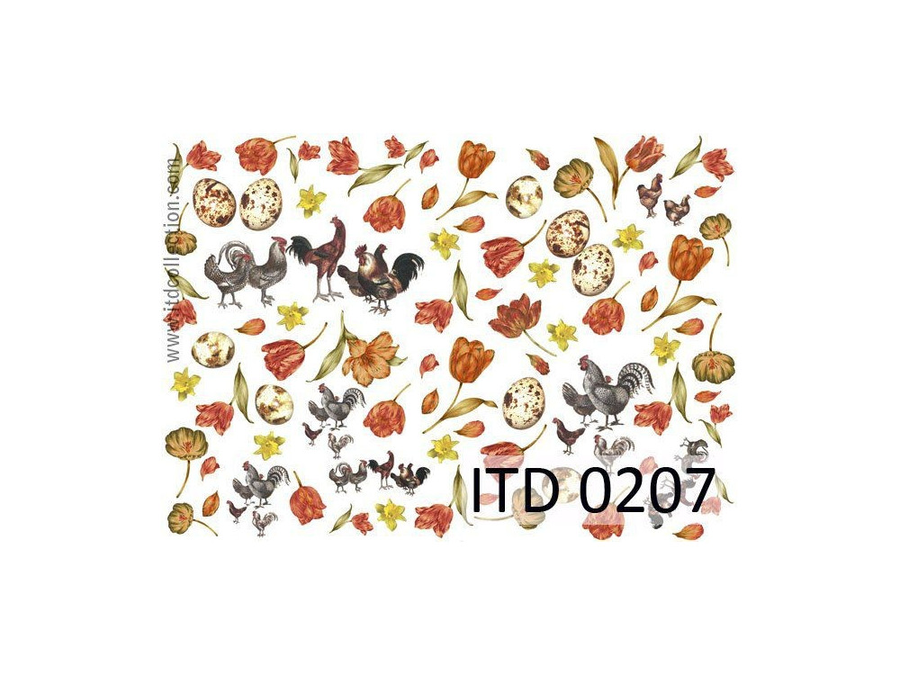 Papier do decoupage A4 - ITD Collection - klasyczny, 0207