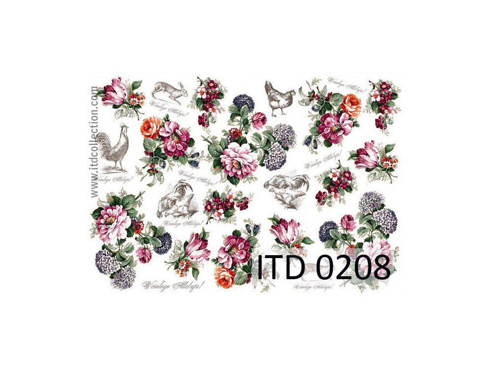 Decoupage paper A4 - ITD Collection - classic, 0208