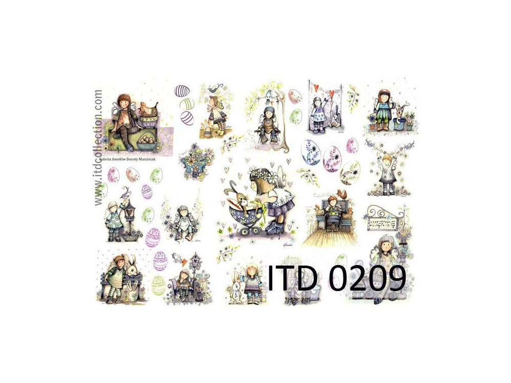 Decoupage paper A4 - ITD Collection - classic, 0209