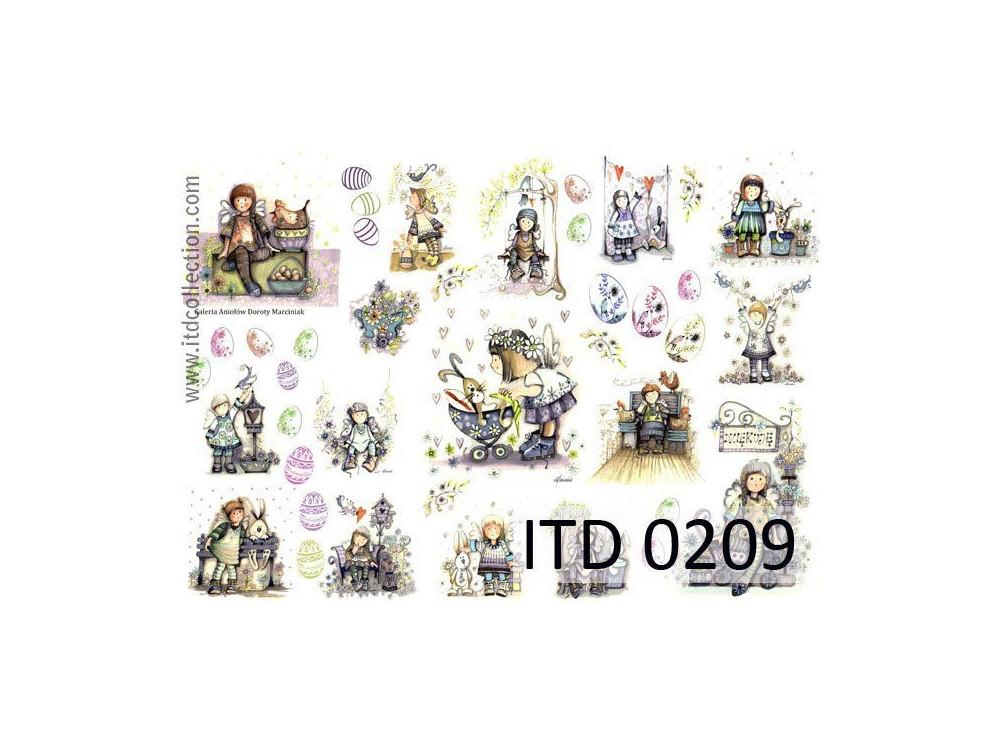 Papier do decoupage A4 - ITD Collection - klasyczny, 0209