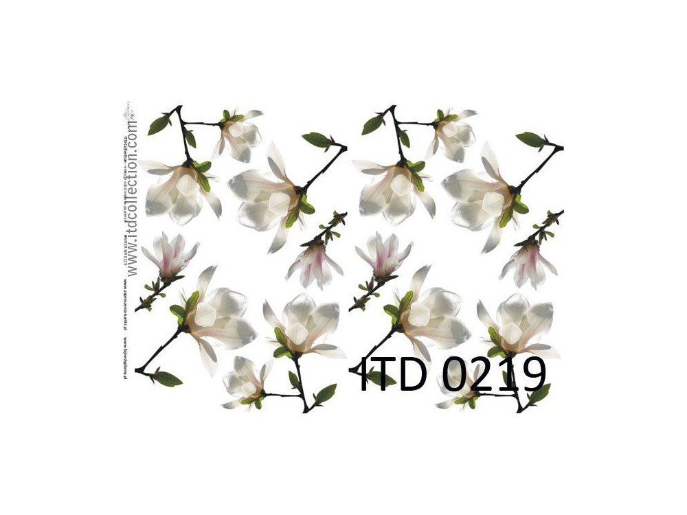 Decoupage paper A4 - ITD Collection - classic, 0219