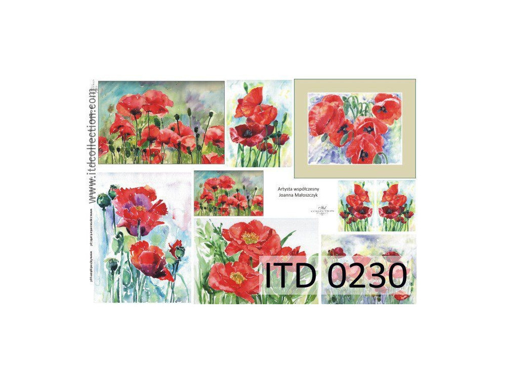 Papier do decoupage A4 - ITD Collection - klasyczny, 0230