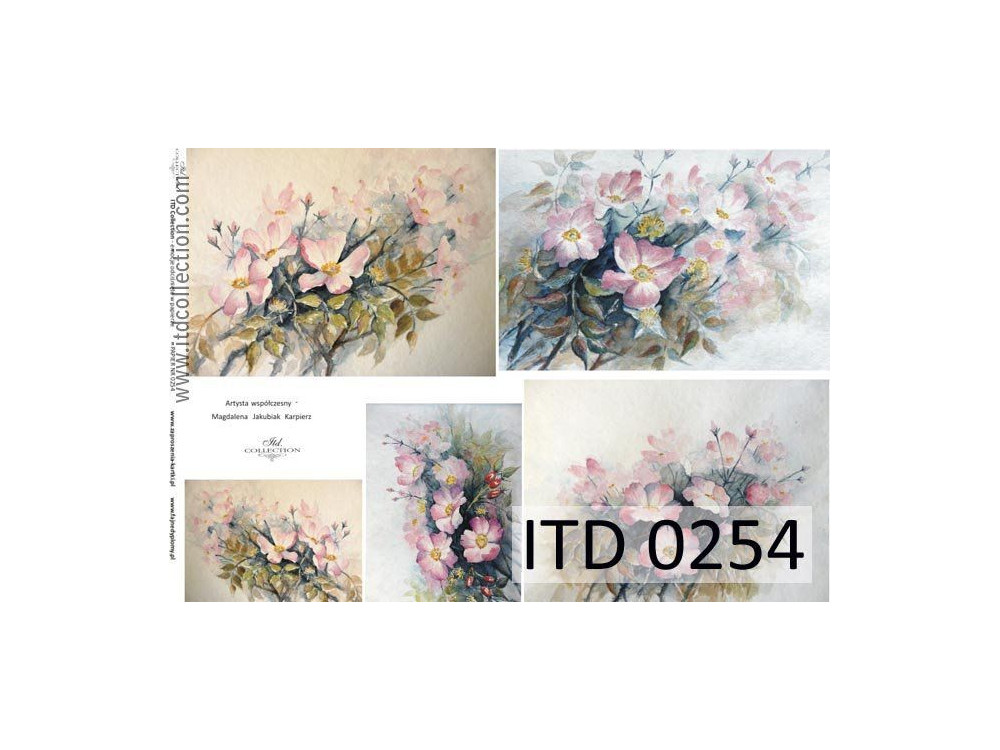 Decoupage paper A4 - ITD Collection - classic, 0254