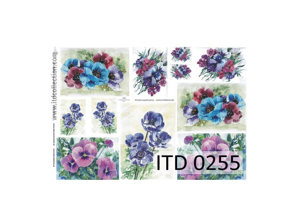 Papier do decoupage A4 - ITD Collection - klasyczny, 0255