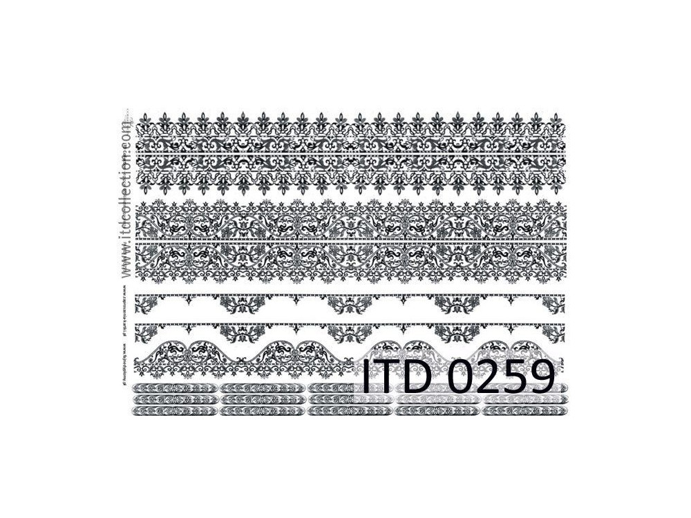 Decoupage paper A4 - ITD Collection - classic, 0259
