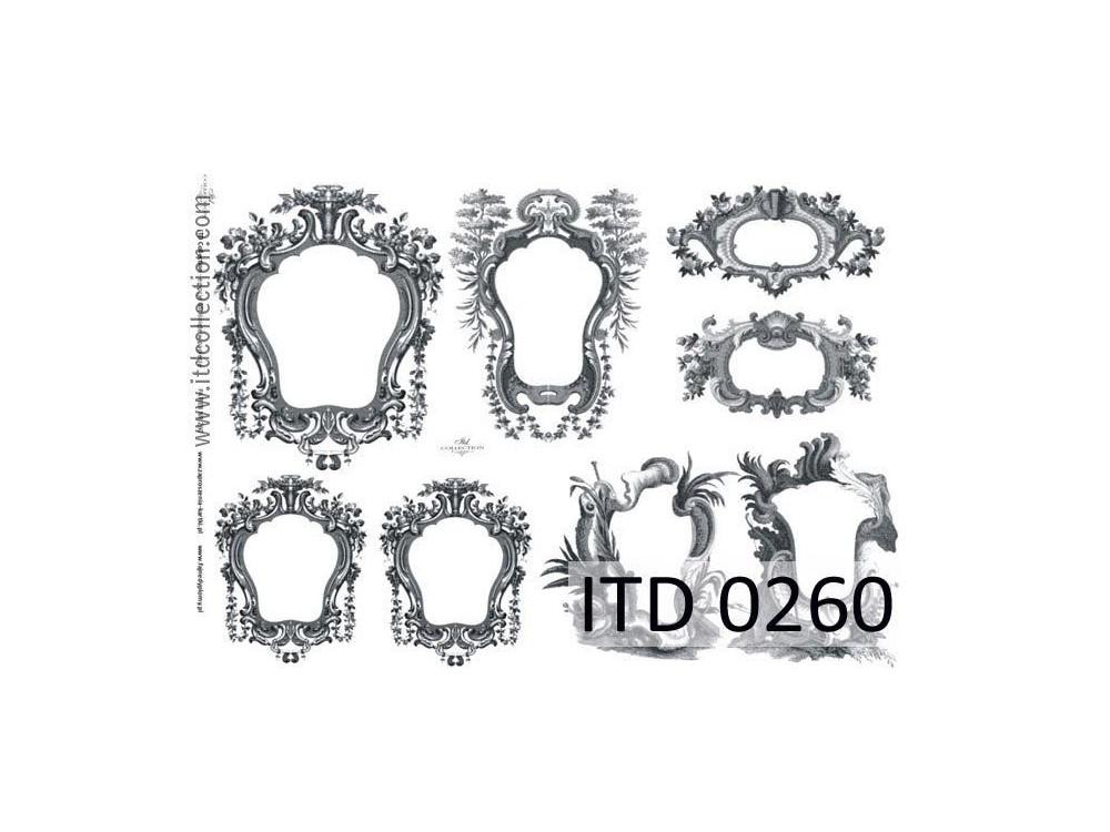 Papier do decoupage A4 - ITD Collection - klasyczny, 0260