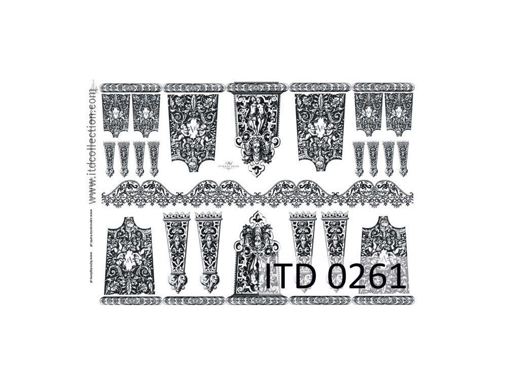 Decoupage paper A4 - ITD Collection - classic, 0261