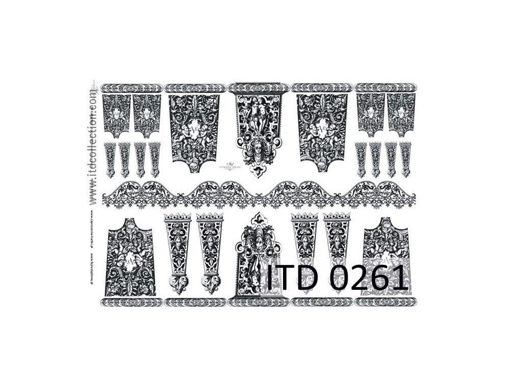 Papier do decoupage A4 - ITD Collection - klasyczny, 0261