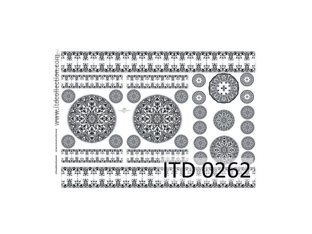 Papier decoupage ITD 0262