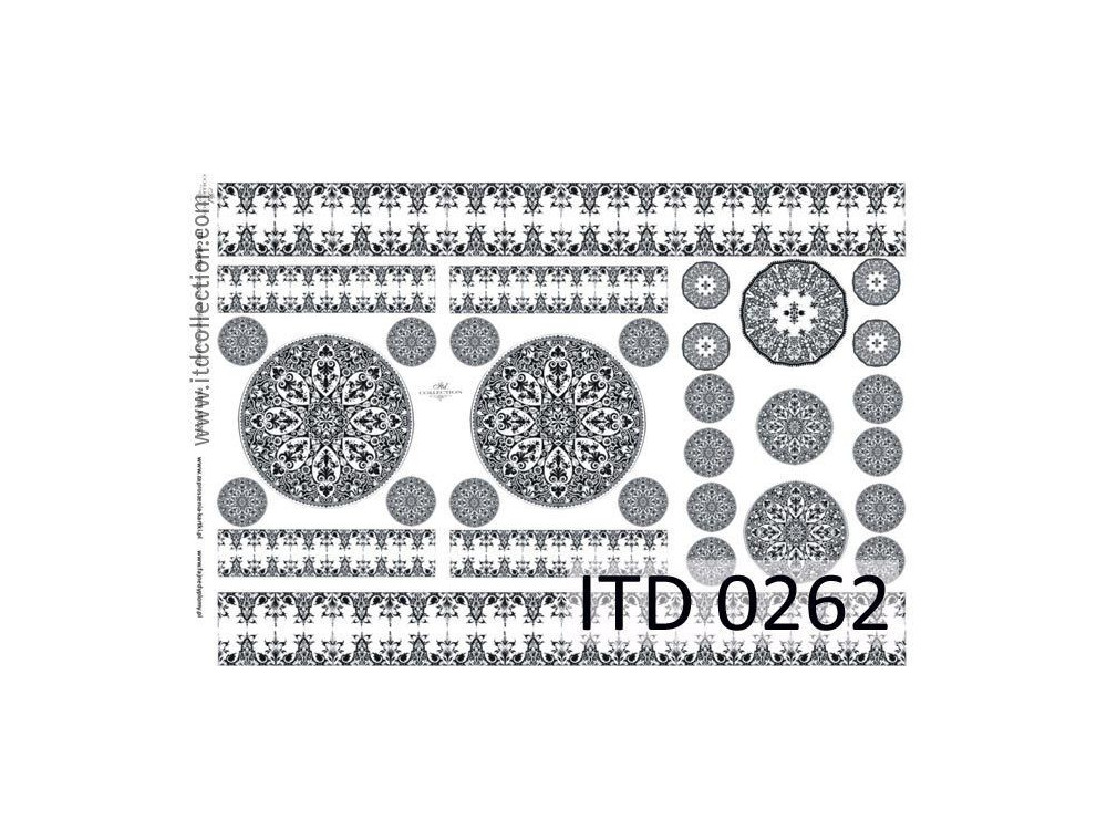 Papier do decoupage A4 - ITD Collection - klasyczny, 0262