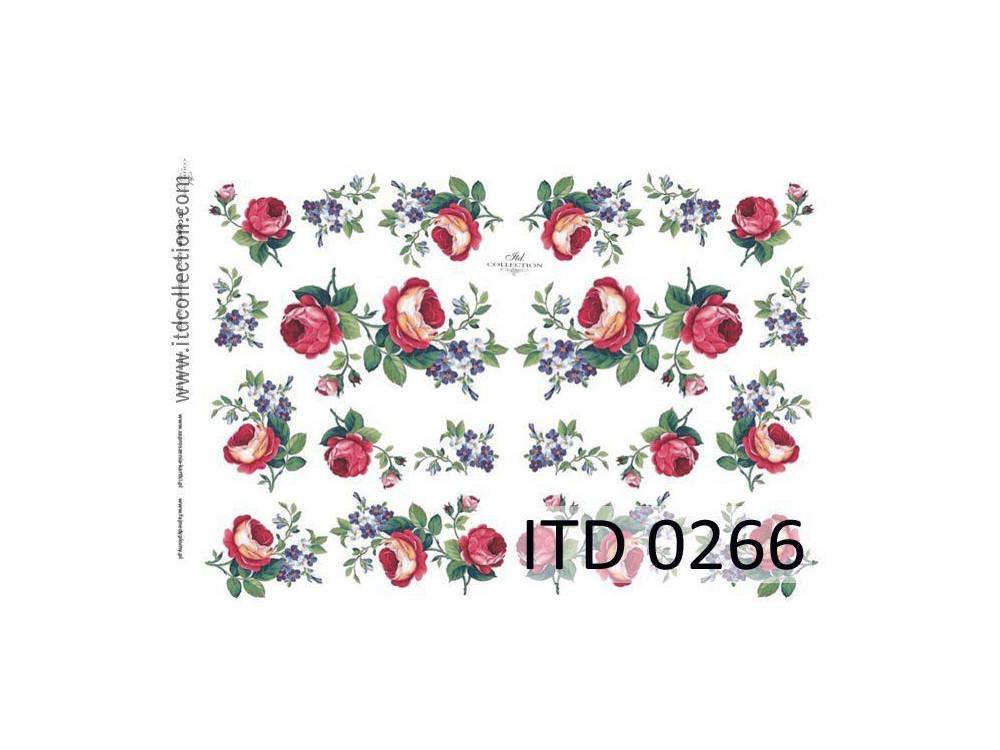 Papier do decoupage A4 - ITD Collection - klasyczny, 0266