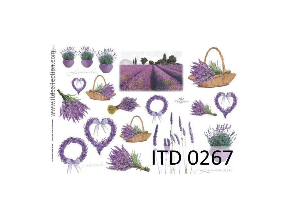 Papier decoupage ITD 0267