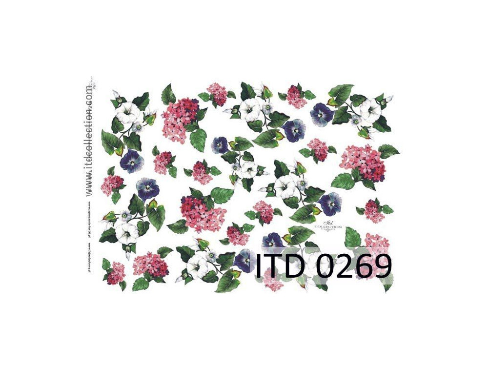 Decoupage paper A4 - ITD Collection - classic, 0269